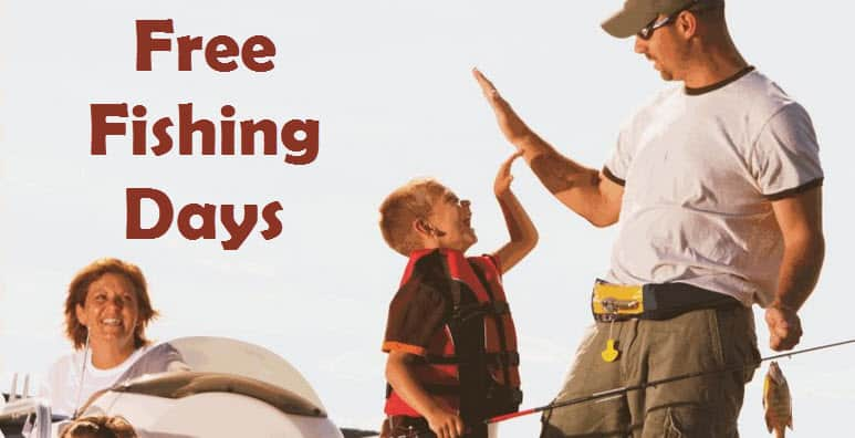 Free fishing days for 2017 no license required for Out of state fishing license florida